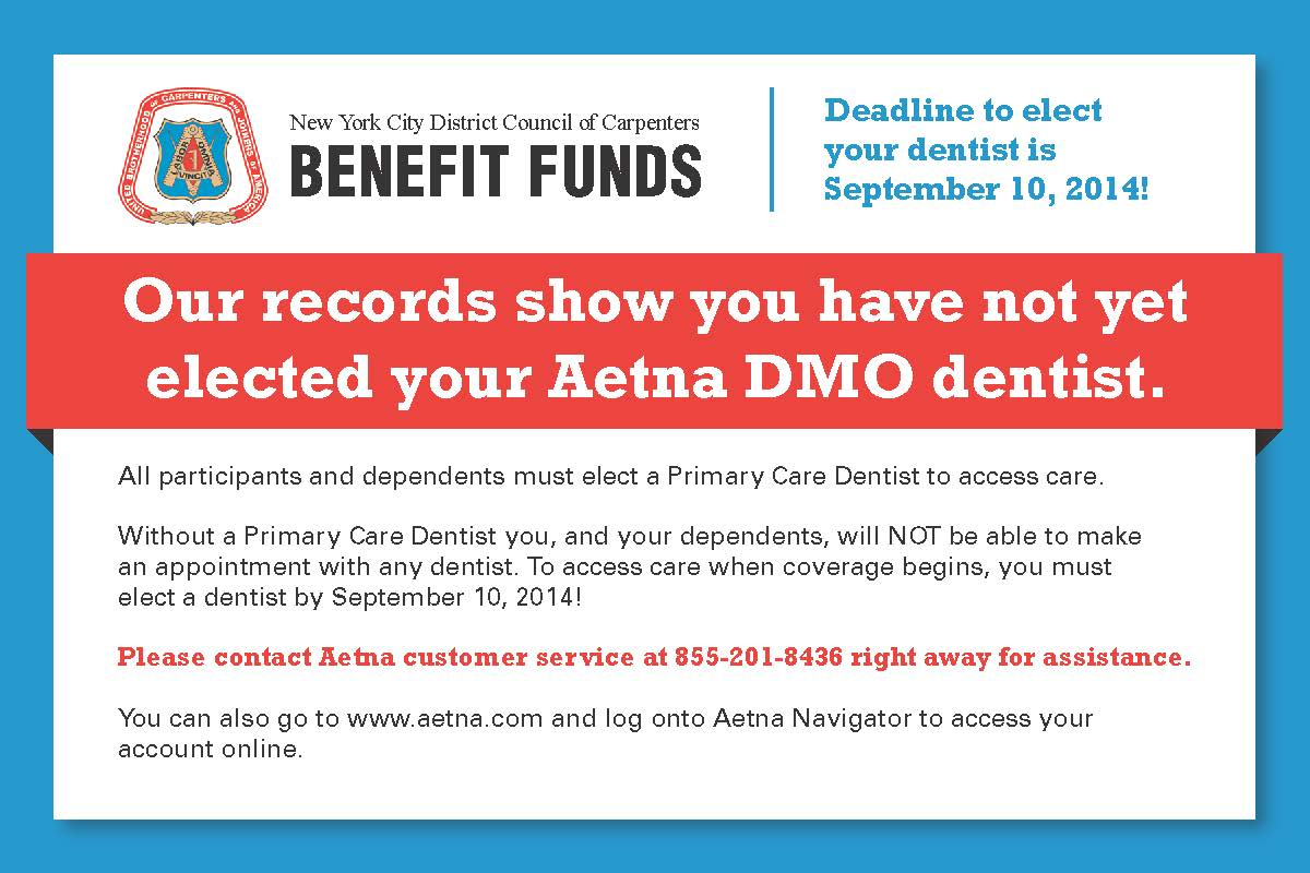 Reminder to Select a Primary Care Dentist : The New York