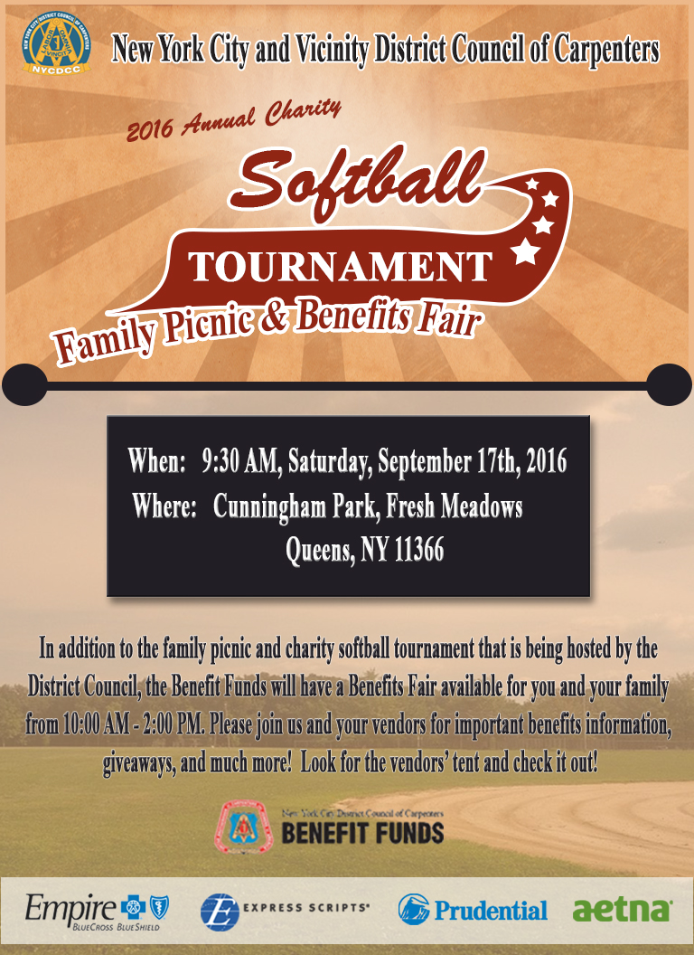 save the date  picnic  charity softball tournament  and