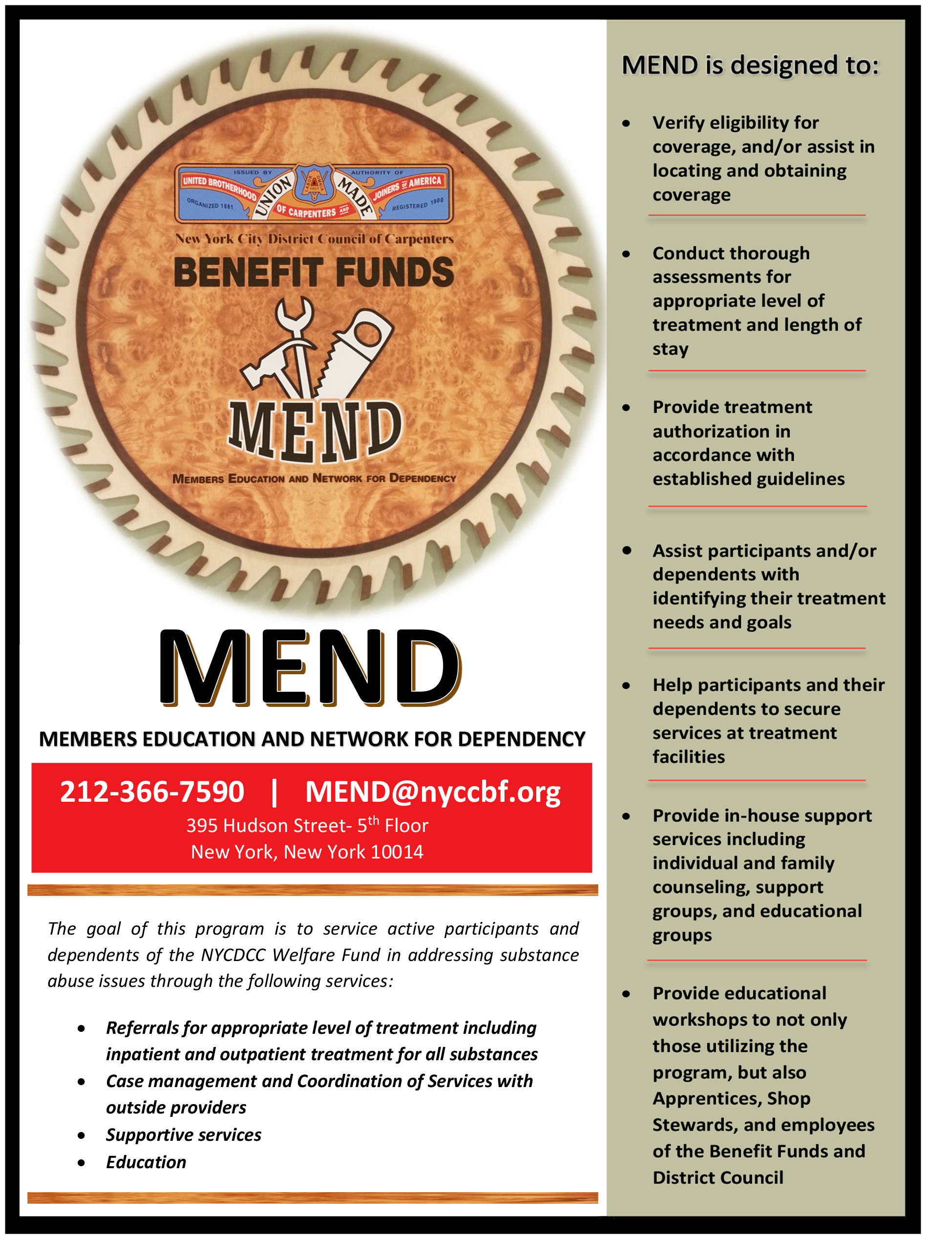 printable flyers the new york city district council of mend flyer
