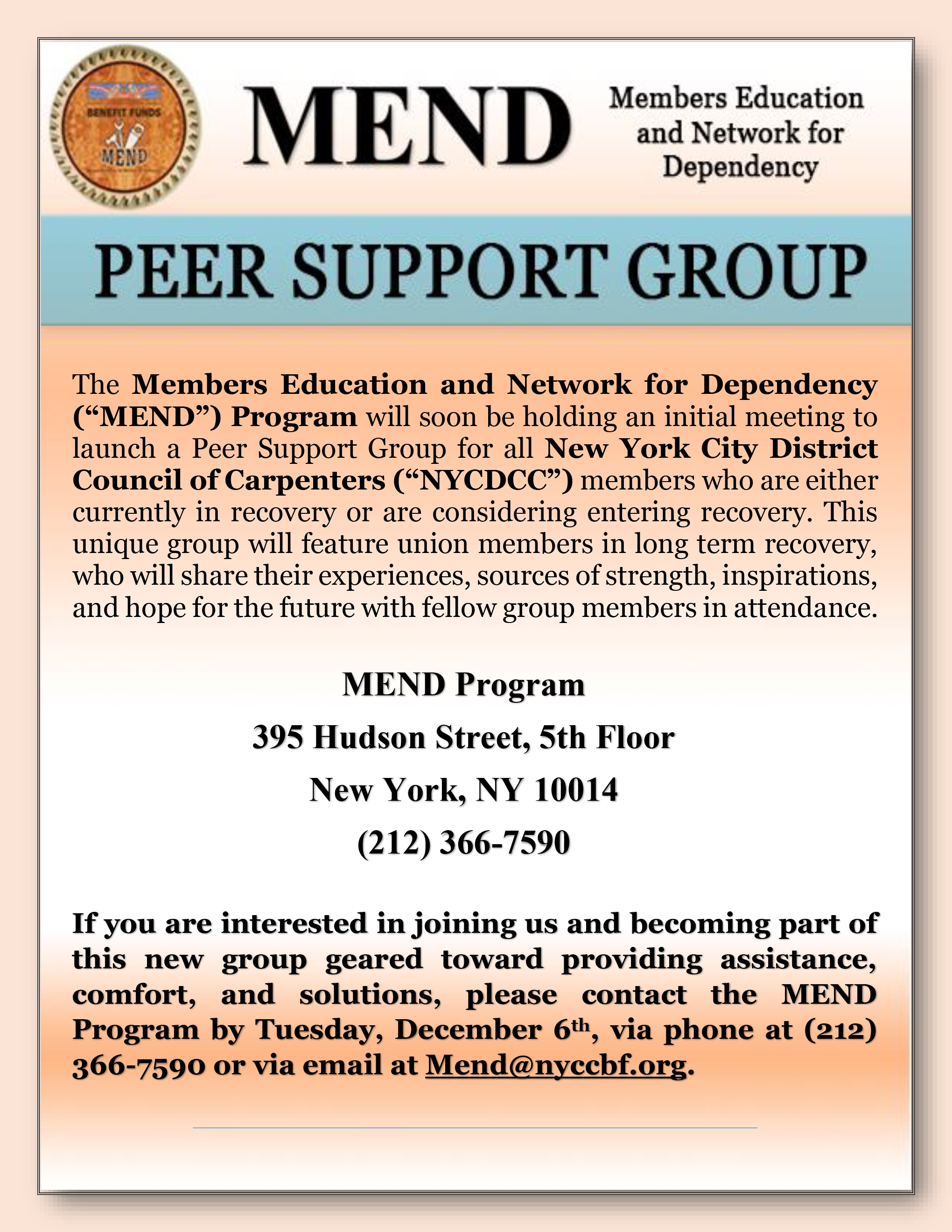 Dating support groups new york